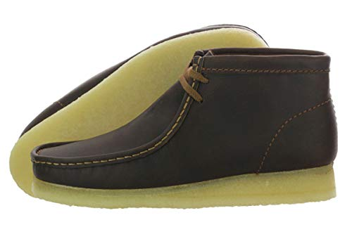 CLARKS Men's Wallabee Boot, Beeswax Leather, 7.5 ()