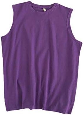 Beeatree 男性100%ヘビーコットンパーソナライズウォッシュノースリーブ純粋な色のティータンク