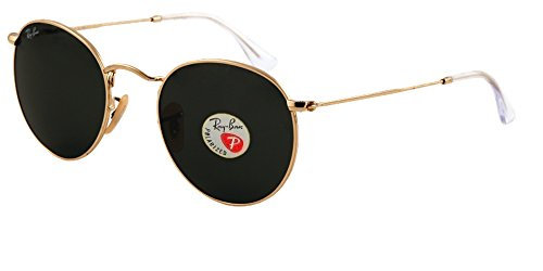RB 3447 Sunglasses (Gold Frame Polarized Black Lens, Gold Frame Polarized Black - Sunglasses Ray Black Ban And Gold