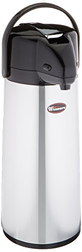 Winco Glass Lined Airpot, 2.5-Liter, Lever Top ()