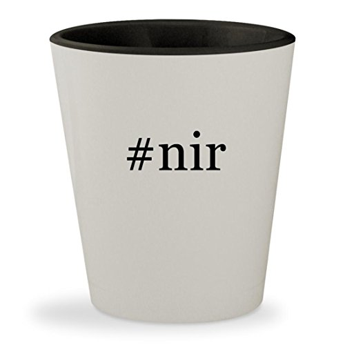 #nir - Hashtag White Outer & Black Inner Ceramic 1.5oz Shot Glass (Nir W)