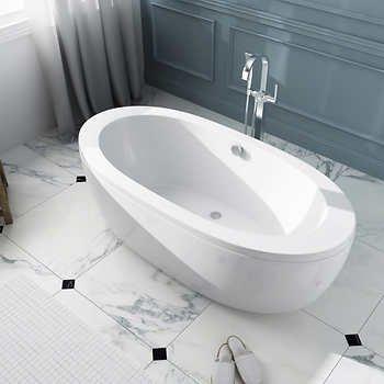 Ove Decors Dalit 69u0026quot; Freestanding Bathtub