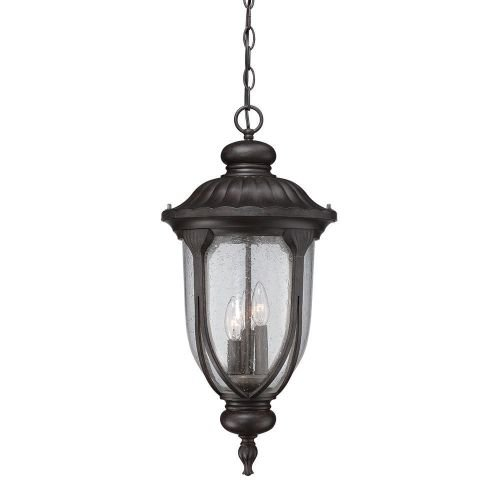Acclaim 2226BC Laurens Collection 3-Light Outdoor Light Fixture Hanging Lantern, Black Coral