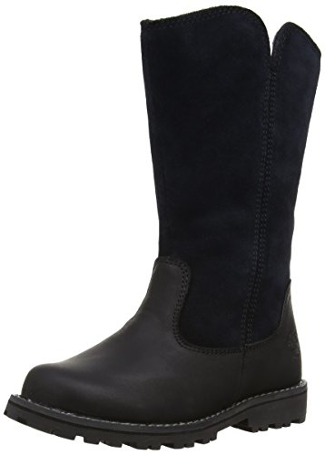 Asphalt Trail Tall Boot (Timberland EK Asphalt Sky Haven Tall Boot (Toddler/Little Kid/Big Kid),Black,6 M US Big Kid)