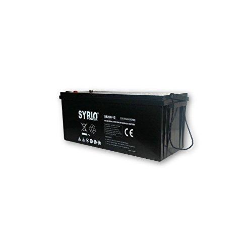 Batteria AGM 200Ah 12V Syrio Power Fotovoltaico Accumulatore Veicoli Elettrici