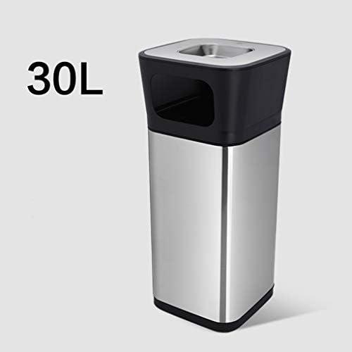 滑らかな表面 ステンレス鋼のリサイクルボックス、長方形モダンなスタイルクリエイティブガベージ缶ホテル回廊公園ごみコンテナ リサイクル可能なデザイン (Size : 28*28*73.5CM)