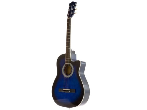 Cheap Fever FV-030C-DBL 3/4 38-Inch Acoustic Cutaway Guitar, Blueburst fever acoustic guitar