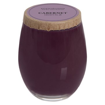 Scentations Scented Candle - Cabernet Legacy No. 98 in Stemless Wine Glass, 12 (12 Oz Glass Candle)