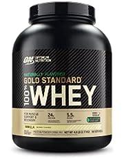 OPTIMUM NUTRITION GOLD STANDARD 100% Whey Protein Powder Vanilla, Naturally Flavored, 4.8 Pound
