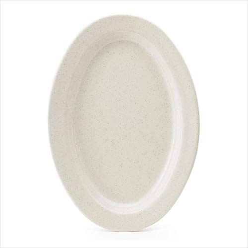 (Santa Fe Ironstone 11.5 inch x 8 inch Oval Platter .75 inch Deep Melamine/Case of)