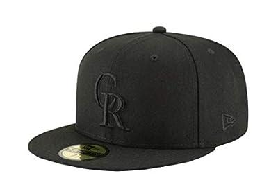 New Era Men's Hat Colorado Rockies BOB Black Fitted Baseball Cap