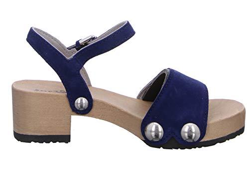 Azul Para Sandalias Vestir De Softclox Mujer qXvfSxw