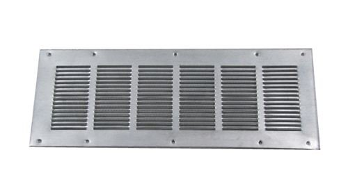 Louvered Foundation Vent with Screen - Galvanized 8x16 (Combustion Air Vent)