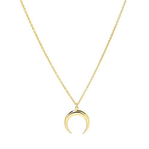Moon Necklace for Women - 18K Gold - Crescent Moon Necklace - Half Moon Necklace - Double Horn Necklace - Gold Crescent Necklace - Dainty Necklace