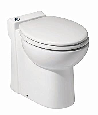 Saniflo 023 SANICOMPACT 48 One piece Toilet with Macerator Built Into the Base, White