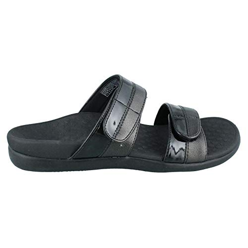 - Vionic Women's Orthaheel Technology Women's Shore Slide,  Black, 7 B(M) US