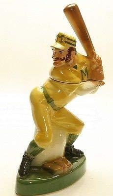 1973 Heritage China Ezra Brooks Baseball Player Shaped Empty Collectible Liquor Bottle