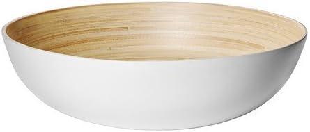 IKEA RUNDLIG - Cuenco para servir (bambú, 30 cm), color blanco