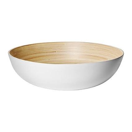 IKEA RUNDLIG - Sirviendo cuenco, bambú blanco, blanco - 30 cm