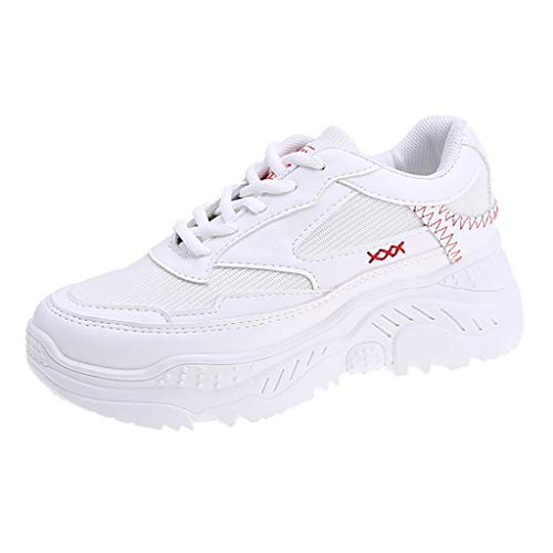 OrchidAmor 2019 Basic Non-Slip Women White Casual Sport Outdoor Walking Shoes Med Lace Up Girls Shoes Sneaker