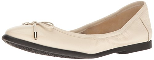 Nine West Womens Quinney Leather Ballet Flat Off White
