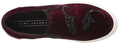 Marc Jacobs Mujeres Mercer 'ratones Slip On Moda Sneaker Bordeaux