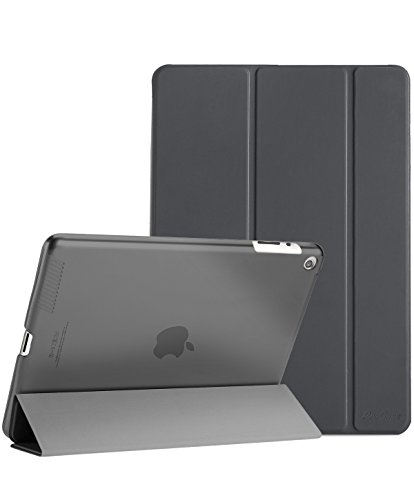 ProCase iPad 2 3 4 Case (Old Model) - Ultra Slim Lightweight Stand Case with Translucent Frosted Back Smart Cover for Apple iPad 2/iPad 3 /iPad 4 -Gray (Apple Ipad Air 2 Old Version)