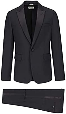 4fcda2329a06f Luxury Fashion | Saint Laurent Mens 509536Y512W1000 Black Suit ...