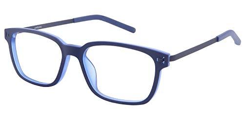 Blue Light Blocking Glasses Helps Sleep FDA Registered - Improve Melatonin Blocks UV Clear Lens Computer Gaming Glasses Prescription Quality (Pictor in Blue)