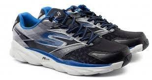 Skechers Performance Men's Go Run Ride 4 Running Shoe,Gray/Black/Blue,7.5 M US