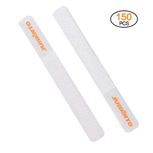 (JUIDINTO 150PCS Reusable Cable Ties Adjustable Wire Organizer Fastening Straps for Computer PC Headphones TV Cords, 7 Inch)