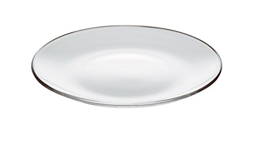 Plate Fruit Glass (Barski - European Glass - Set of 6 Plates - Salad - Dessert - Round - Each Plate is 8.3