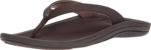 OLUKAI Women's Kulapa Kai Sandals, Dark Java/Wood, 8 M US