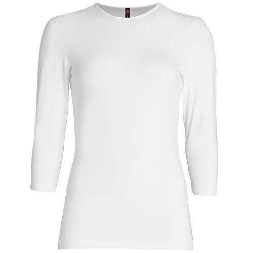 Esteez Womens 3/4 Sleeve Shirt SNUG FIT EX801941 White XX-Large
