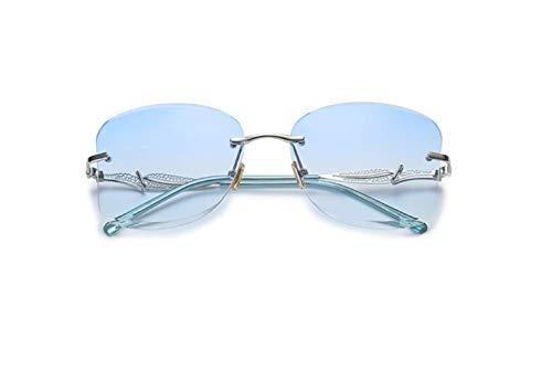 Metal Corte De Sol De Borde Europa Marina Plata Sombrilla Y Espejo liwenjun Sol Película Sin Marco Gradiente América De Gafas Gafas Azul De qfKzTY