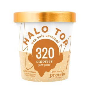 Halo Top, Sea Salt Caramel Ice Cream, Pint (4 Count) (Best Halo Top Ice Cream)