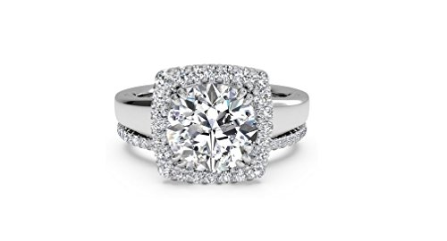 wedding rings white gold diamond - 9