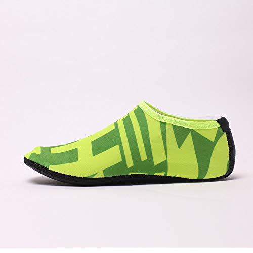 NUWFOR Beach Shoes Water Sports Unisex Water Shoes Barefoot Yoga Socks Diving Barefoot (Green, 11-12 M US Length:10.8'') by NUWFOR (Image #3)