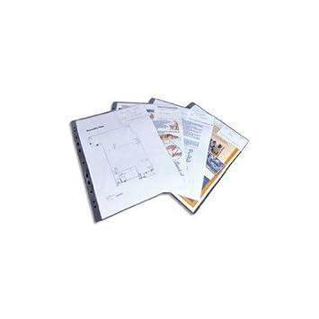 Pavo Filex Card Boite De 100 Pochettes Plastification Perforee En Polyester Transparent Avec Encart Pour Carte