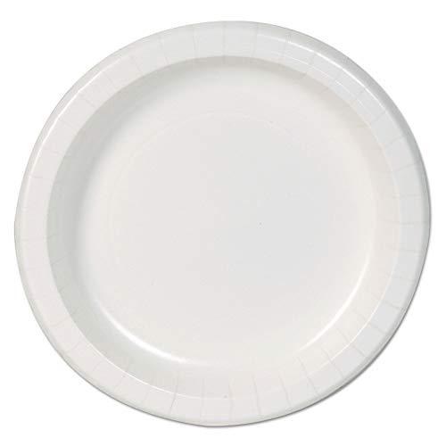 Dixie Basic DBP09W Basic Paper Dinnerware, Plates, White, 8.5