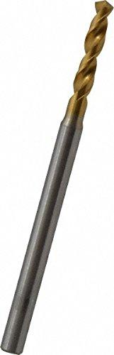 OSG 8595249 Screw Machine Drill Bit 40 2.49mm Diameter Vanadium High Speed Steel 46mm Overall Length TiN Finish 3mm Shank Diameter