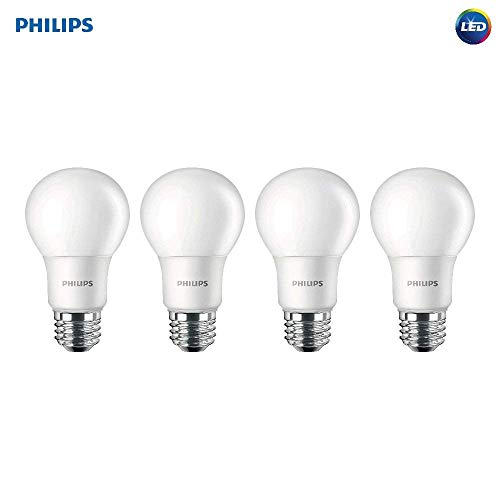 - Philips 542976 LED Non-Dimmable A19 Light Bulb: 1500-Lumen, 5000-Kelvin, 15 (100 Watt Equivalent), E26 Base, Daylight, 4-Pack, White, 4 Piece