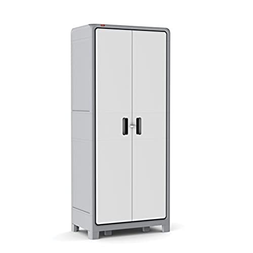 Plastic Storage Cabinet With Doors Amazon Com