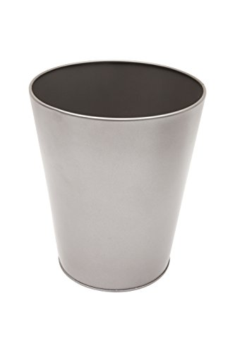 Kenney Storage Made Simple Rust Resistant Metal Waste Basket, Pewter (Accessories Bathroom Pewter)