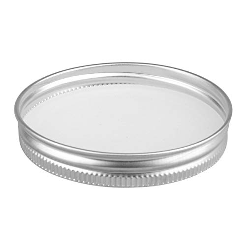 CHICTRY Stainless Steel Mason Jar Lids Rust Resistant Polished Storage Solid Caps with Silicone Sealing Lid Inserts Suitable for Mason Ball Canning Jar Silver 86mm by CHICTRY (Image #5)