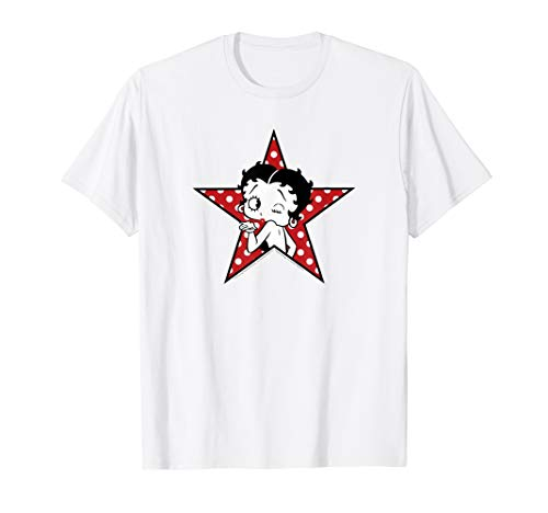 Betty Boop Betty Blowing Kiss Star T-shirt