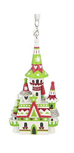 Disney Parks Santa Mickey and Friends Christmas Holiday Castle 3D Figurine Ornament