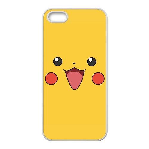 N6U82 Pikachu W4Y3RT coque iPhone 5 5s cellule de cas de téléphone couvercle coque blanche DM4IIY3KJ