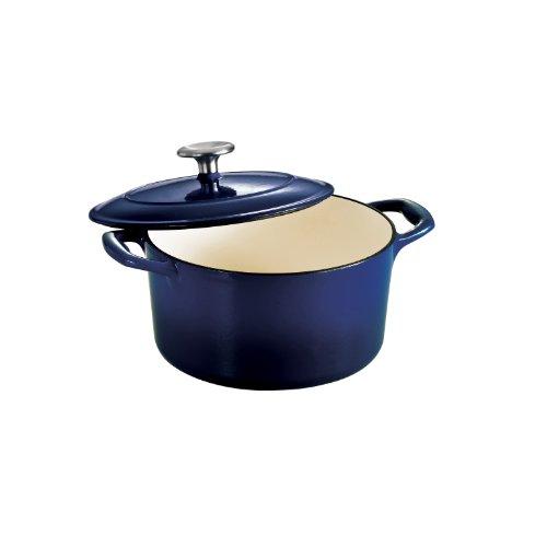 - Tramontina Enameled Cast Iron Covered Round Dutch Oven, 3.5-Quart, Gradated Cobalt