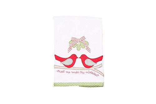 Glory Haus 7090512 Meet Me Under Mistletoe Tea Towel, Multicolor by Glory Haus